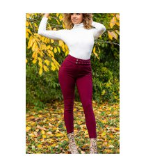 sexy fitting hoge taille broek bordeaux