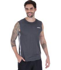 camiseta regata adidas d2m 3s 19 - masculina - cinza escuro