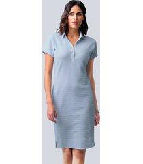 jurk alba moda lichtblauw::wit