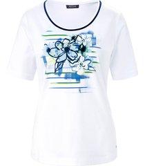 shirt met ronde hals en korte mouwen van basler wit