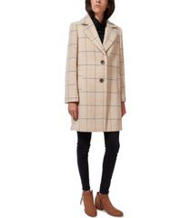 sam edelman plaid single-breasted walker coat, created for macy's