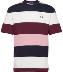 bold stripe t-shirt t-shirts short-sleeved multi/mönstrad fred perry