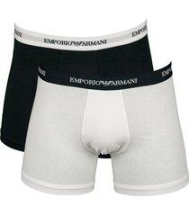 armani boxershort 2pak blauw - wit