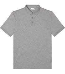 calvin klein men's liquid touch modern fit polo shirt heather gray - size: xxl