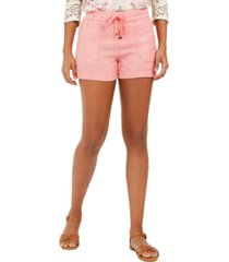 style & co solid linen shorts, created for macy's