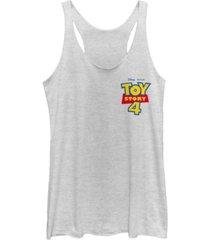 disney pixar juniors' toy story 4 chest color logo tri-blend tank top