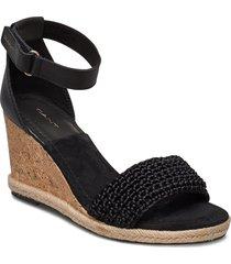 pelicanbay wedge sandal sandalette med klack espadrilles svart gant