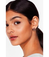 womens ear we go again chunky hoop earrings - silver