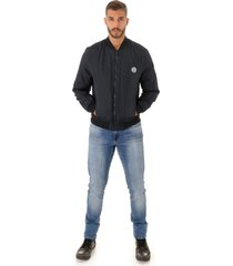 jaqueta opera rock bomber windbreak azul marinho