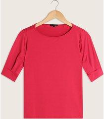 camiseta manga corta recogida con puño  escote redondo-l