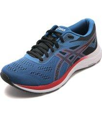 tenis running azul-rojo-blanco asics gel-excite 6