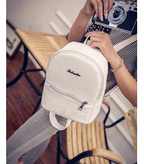 mochila de mujer/ mochila escolar para mujer mochilas-blanco