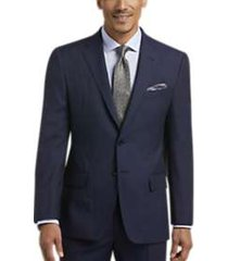 joseph abboud navy check slim fit suit