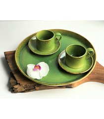 patera taca ceramiczna plus filiżanki 2 szt