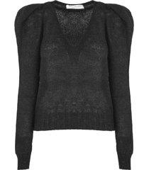 philosophy di lorenzo serafini black mohair blend sweater