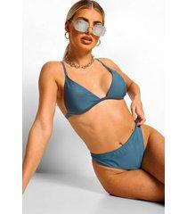 essentials string bikini broekje met hoge taille, petrol