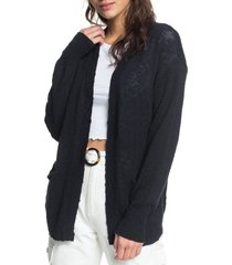 women's roxy valley shades cardigan, size x-small - black
