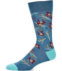 cypress stretch-cotton mid-calf socks