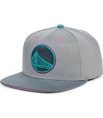 mitchell & ness golden state warriors grey wolf mags snapback cap