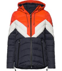 colour block eclipse padded jacket gevoerd jack blauw superdry