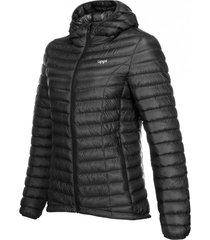chaqueta plumas mujer peak down hoody negro lippi