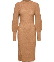 mika knit dress dresses knitted dresses beige second female