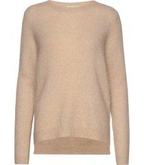 brook knit new o-neck stickad tröja beige second female