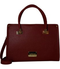 bebe bella smooth medium satchel