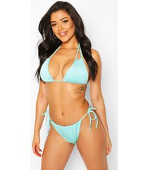mix & match tie side bikini brief, blue
