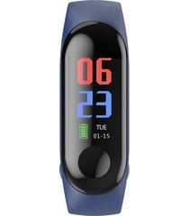 pulsera inteligente medir la frecuencia cardíaca podómetro impermeable