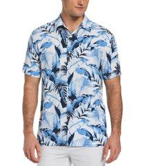 cubavera men's leaf print shirt