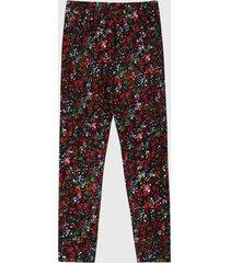 leggings negro-rojo-verde boboli