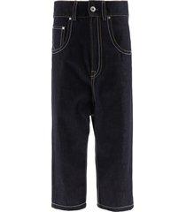 lanvin drop crotch jeans