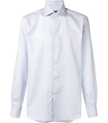 corneliani tailored formal shirt - blue