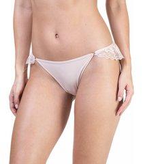 calcinha renda tanga base - 541.029 marcyn lingerie básica bege