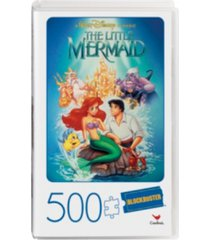500-piece adult jigsaw puzzle in plastic retro blockbuster vhs video case, little mermaid