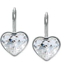 swarovski crystal bella heart drop earrings