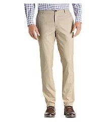 travel tech slim fit flat front pants - big & tall by jos. a. bank