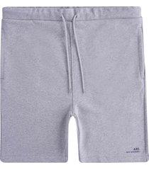 a.p.c logo fleece shorts | gris | h10148-plb