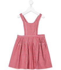 caramel donnington pinafore dress - red