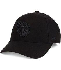 '47 brand tennessee titans black & black mvp cap