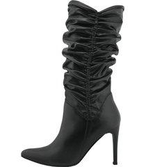 botas mantova cuero  negro