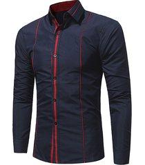 camicia da uomo slim fit elegante e lucida per uomo