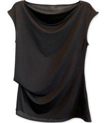 alfani cowl-neck peplum blouse, created for macy's
