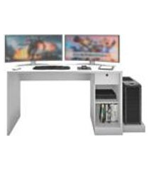 mesa gamer playerxtreme branco texturizado - gran belo