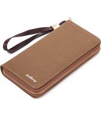 vintage canvas men long wallet retro denim leather zipper male purse student clu