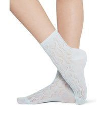 calzedonia - openwork cotton socks, one size, blue, women