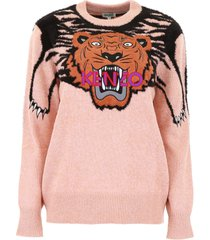 kenzo pullover with tiger intarsia