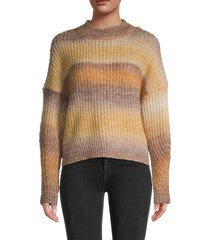 rd style women's long-sleeve rib-knit sweater - toffee - size xs