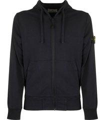 stone island 64251 zip sweatshirt in cotton